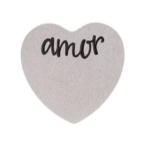 Picture of 'Amor' Medium Silver Heart Coin